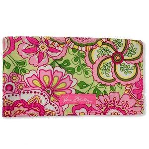 Vera Bradley Petal Pink Fabric Checkbook Cover